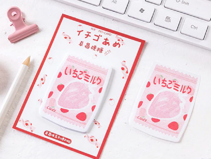 Strawberry Candy Notepad