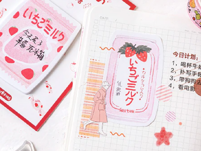 Strawberry Soda Notepad