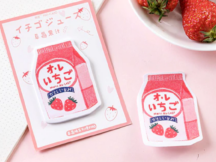 Strawberry Yogurt Notepad