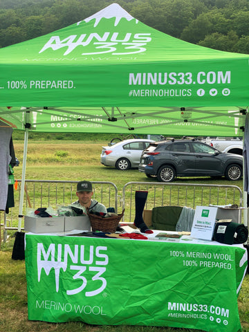 Minus33 booth at the Vendor village