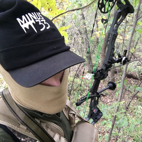 Tom hunting, in a minus33 logo hat