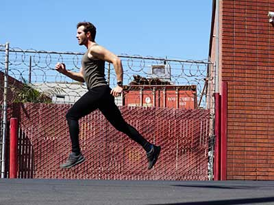 Stephen Wearing Woolverino Running Tights