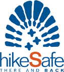 hikeSafe Logo NH Fish and Game White Mountain National Forest Service