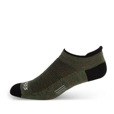 Mountain Heritage Micro Weight No Show Tab Liner Socks Olive Drab