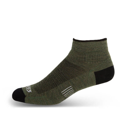 Mountain Heritage Micro Weight Ankle Liner Socks Olive Drab