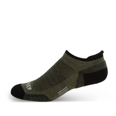 Mountain Heritage Micro Weight Light Cushion No Show Tab Socks Olive Drab