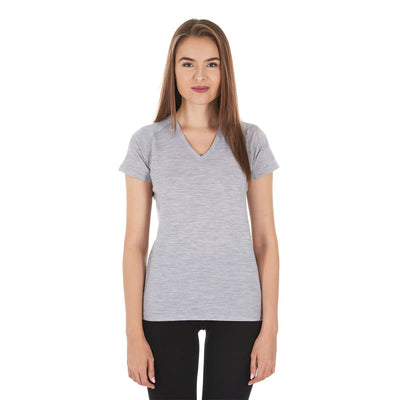 Minus33 Merino Wool Clothing Woolverino Women's Micro Weight V-Neck T-Shirt