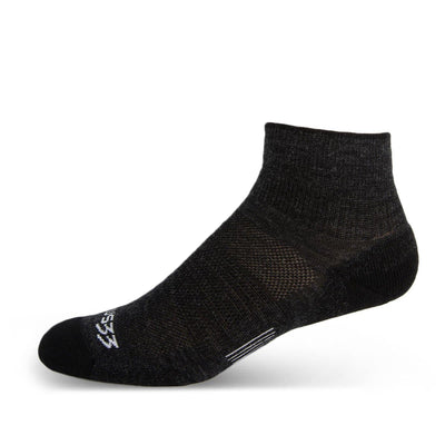Mountain Heritage Micro Weight Light Cushion Ankle Socks Black