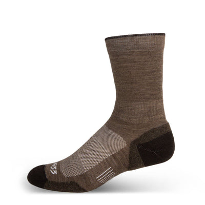 Mountain Heritage Micro Weight Light Cushion Crew Socks Coffee
