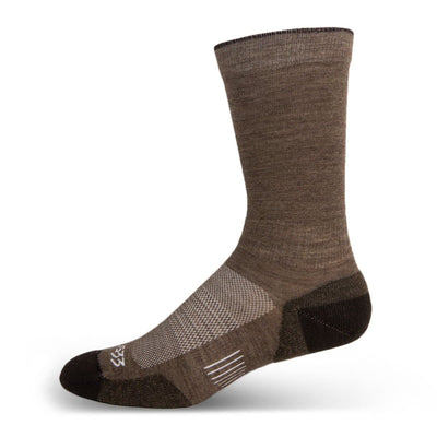"Mountain Heritage Micro Weight Light Cushion Boot 10"" Socks Coffee"