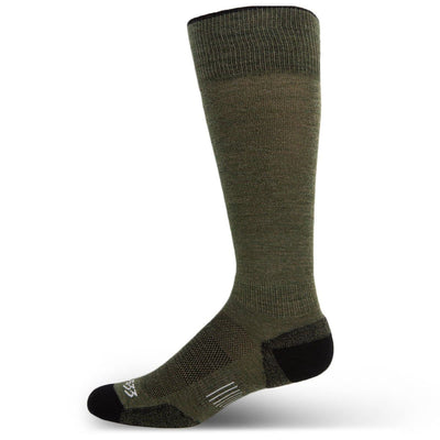 Mountain Heritage Micro Weight Light Cushion Full Length Socks Olive Drab