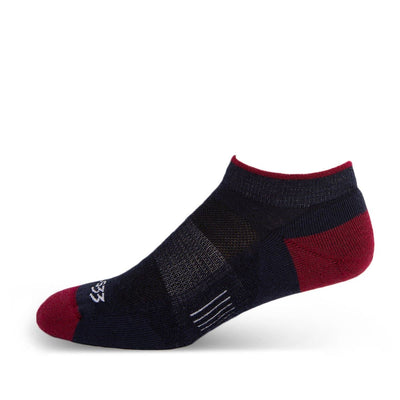 Mountain Heritage Micro Weight Full Cushion No Show Socks Patriot