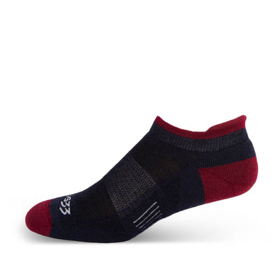 Mountain Heritage Micro Weight Full Cushion No Show Tab Socks Patriot