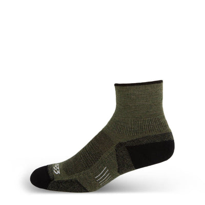 Mountain Heritage Micro Weight Full Cushion Mini Crew Socks Olive Drab