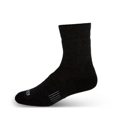 Minus33 Merino Wool Mountain Lightweight Crew Socks Black
