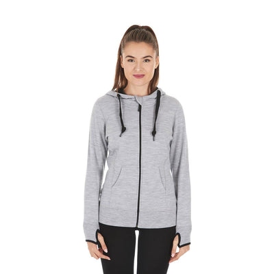 Women's Gray Expedition Wool hoody - Minus33 Aleutian hoody