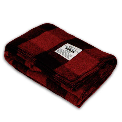 Minus33 Merino Wool Clothing White Mountain Woolen Camp Blanket