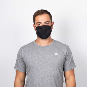 Plainish Schwarz –  Dry-Knit Community-Maske