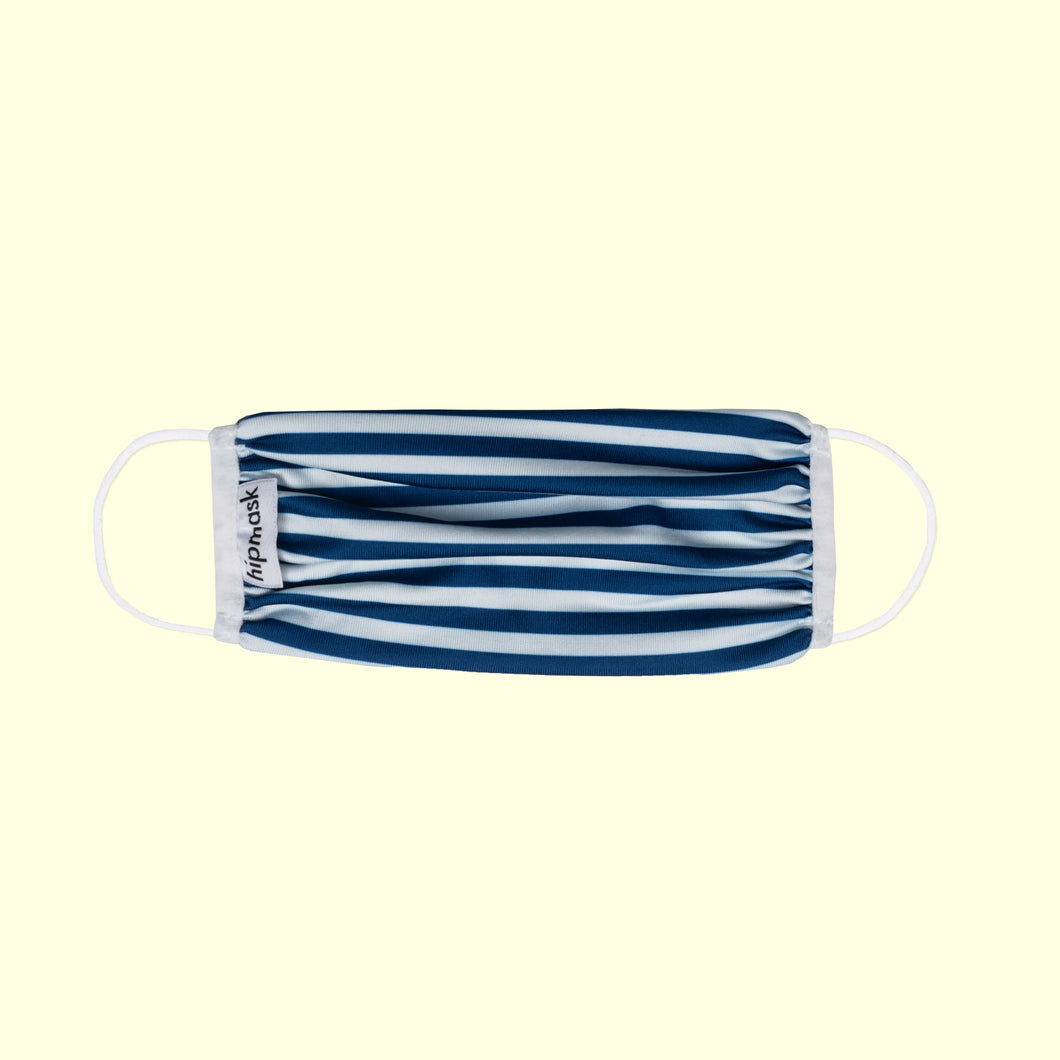 Stripy Blau Kids  – Dry-Knit Behelfsmaske