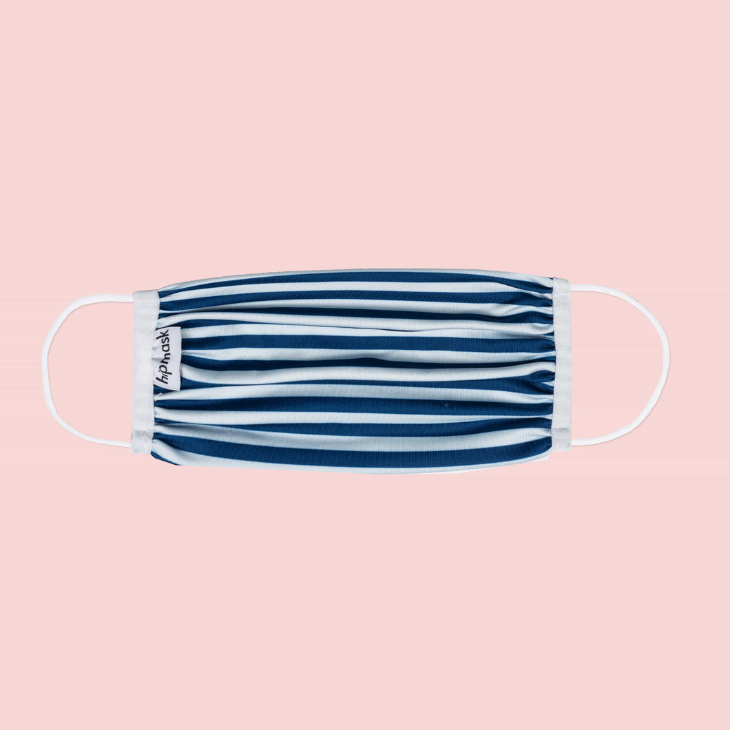 Stripy Navy - Dry-Knit Face Mask