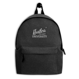 Hustlers' Feast University Embroidered Backpack