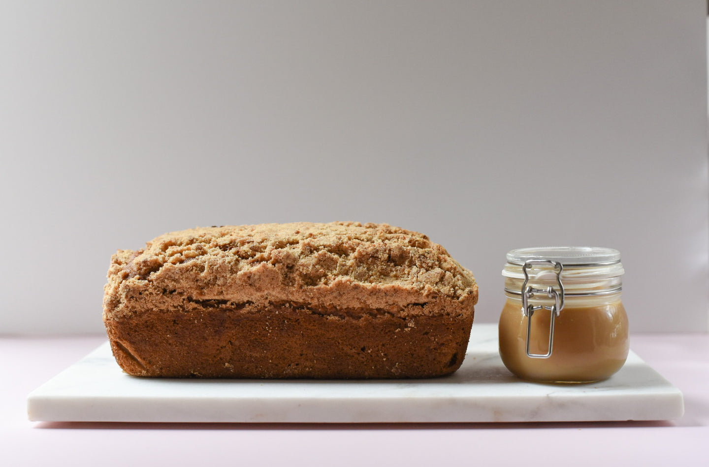 Apple Crumble & Salted Caramel Loaf