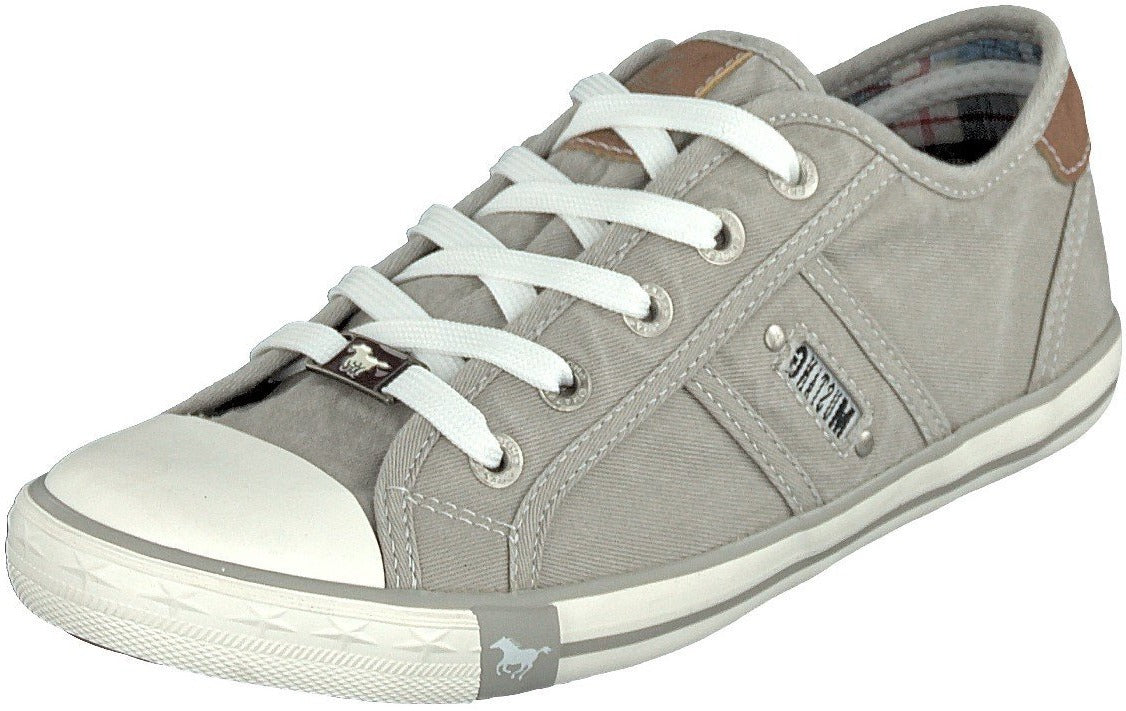 Mustang Ladies/Women 1099-302-933 Silk Gray Lace up Trainer Shoes