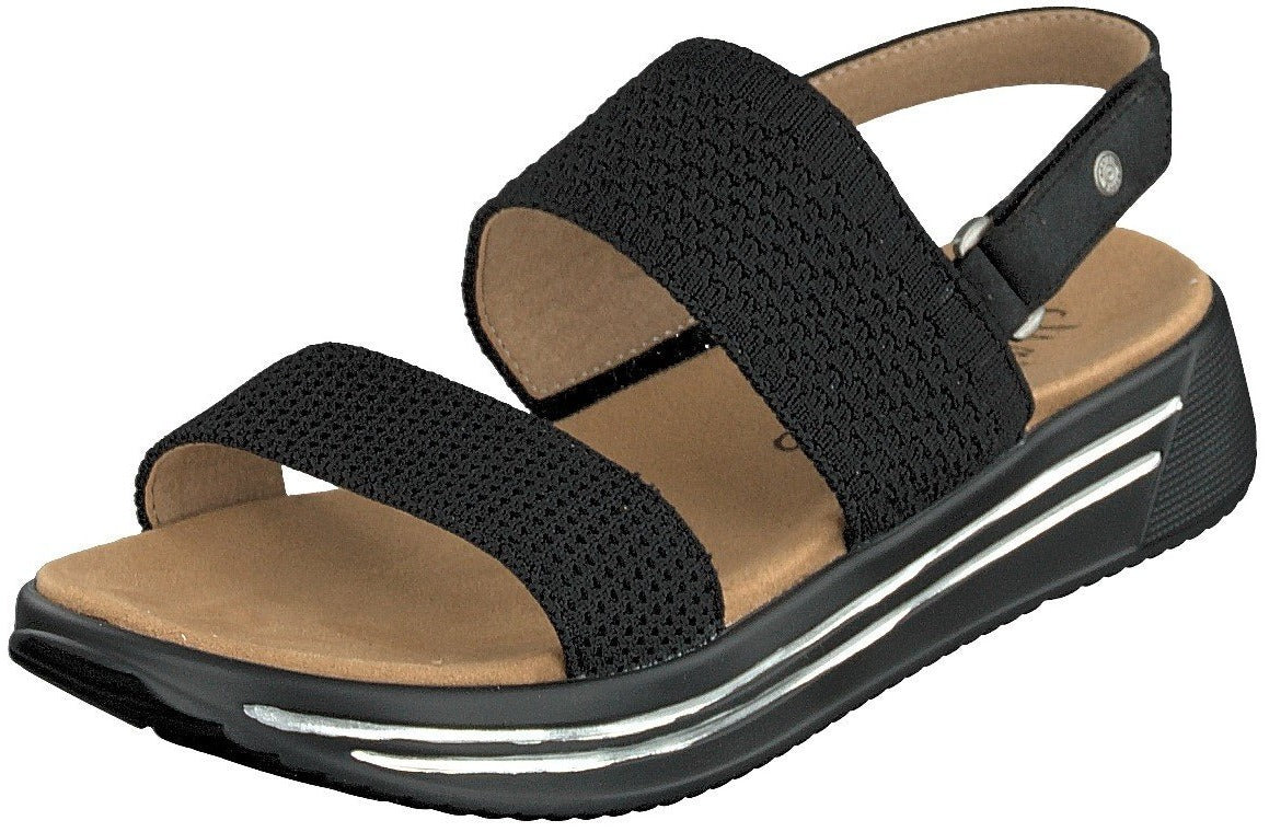 Mustang Ladies/Women 1393-801-9 Black Slip On Wedge Sandal