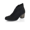 Remonte Black Low Detailed Heel Ankle Boot