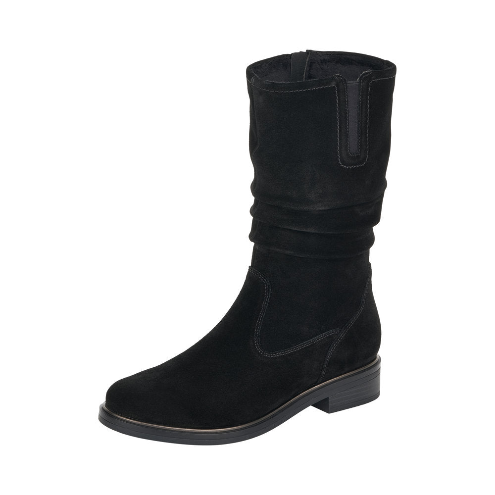 Remonte Womens Black Zip Up Mid Boots