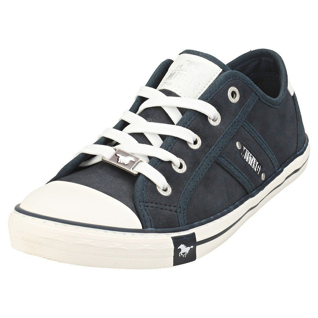 Mustang Ladies/Women 1099-323-820 Navy Lace up Trainer Shoes