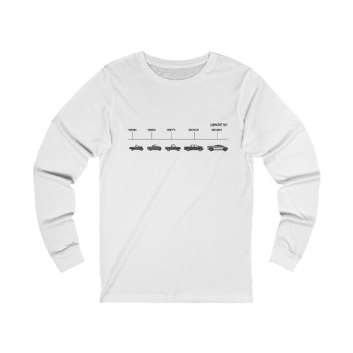 Evolution of the Truck Womens Long Sleeve Tee