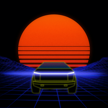Load image into Gallery viewer, Cyber Art - Retro Sunset