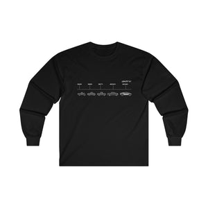 Evolution of the Truck Men's Long Sleeve Squad Tee