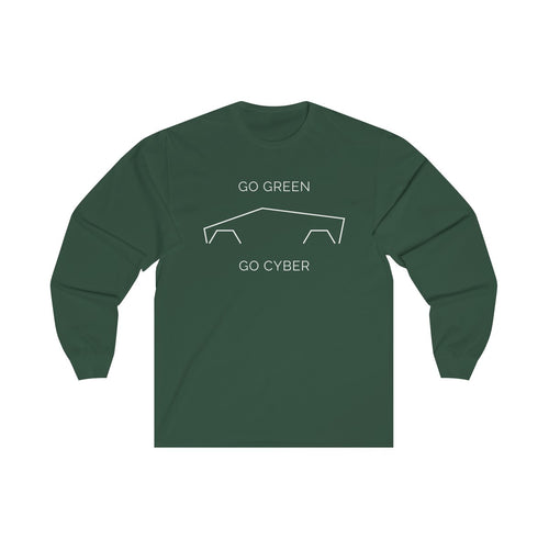 Go Green, Go CYBER, and Support Australia Wildfire Relief Efforts - Unisex Long Sleeve Tee