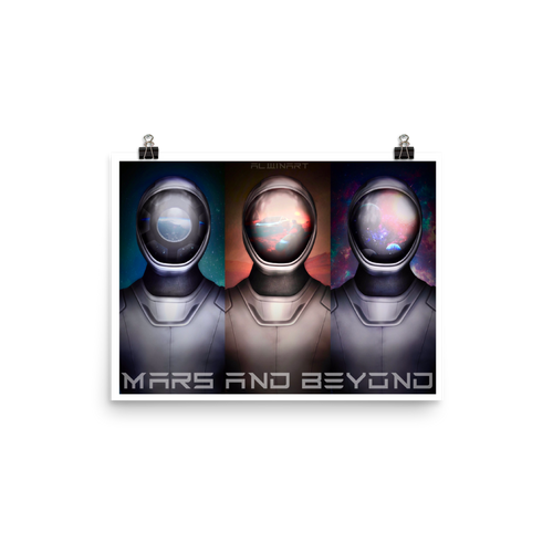 Mars and Beyond Matte Poster