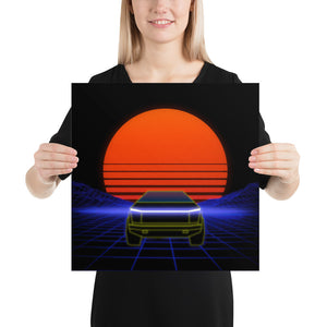 Cyber Art - Retro Sunset