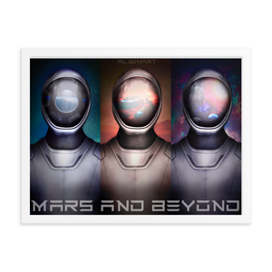 Mars and Beyond Framed poster
