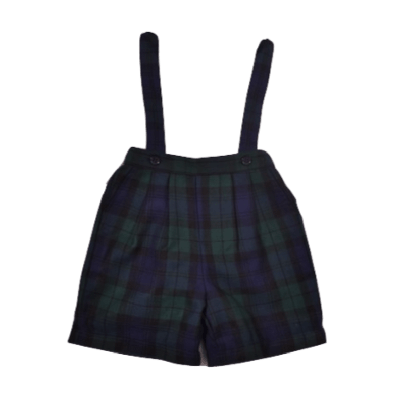 Short à bretelles en tartan blackwatch