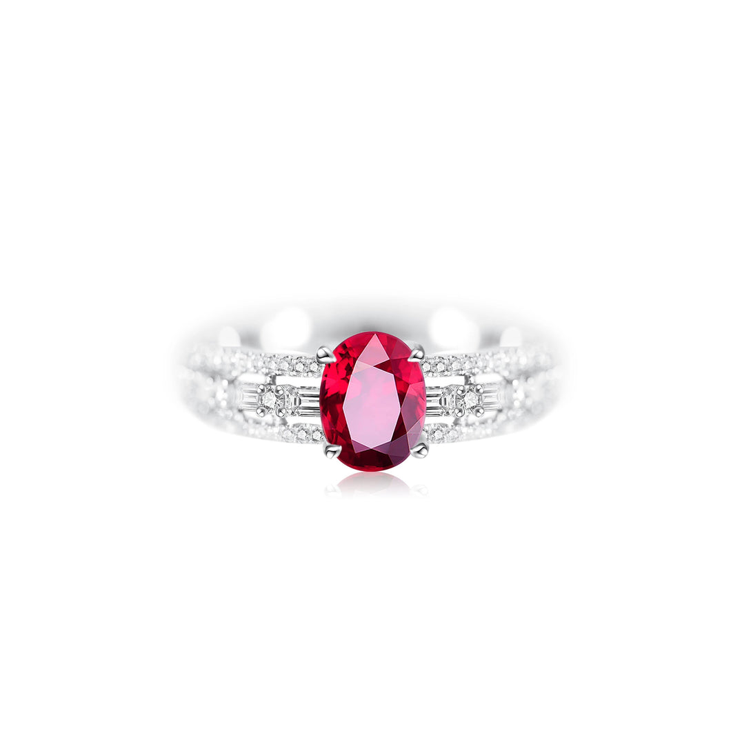 1.3ct Burmese Ruby Ring