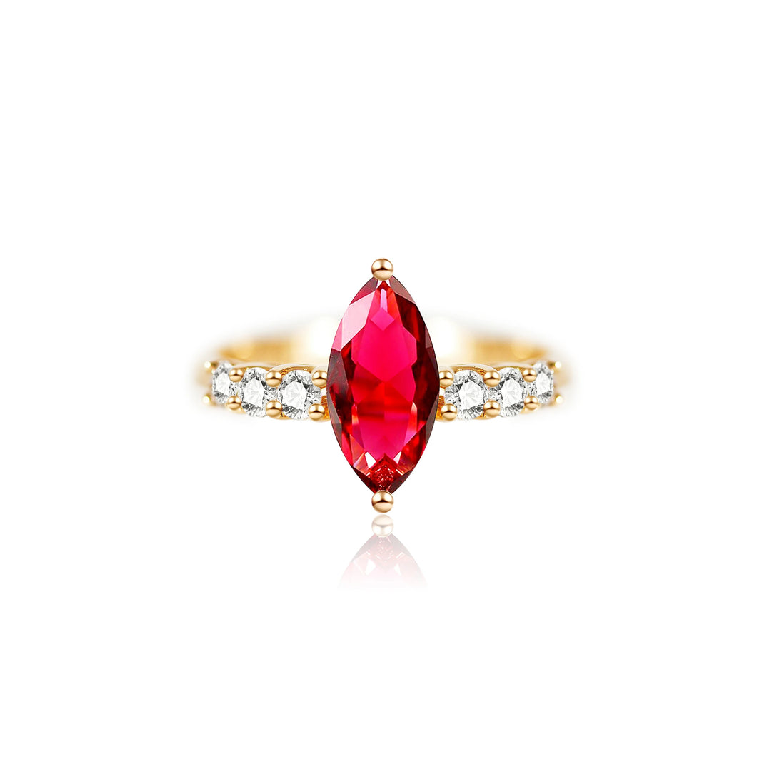 1.24ct Marquise Ruby Ring