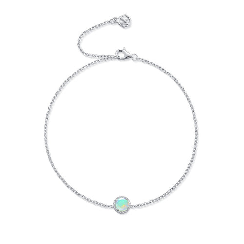 October Birthstone Opal Bracelet