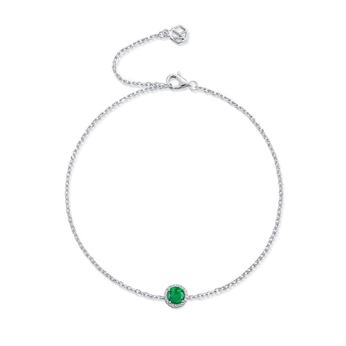May Birthstone Emerald Bracelet