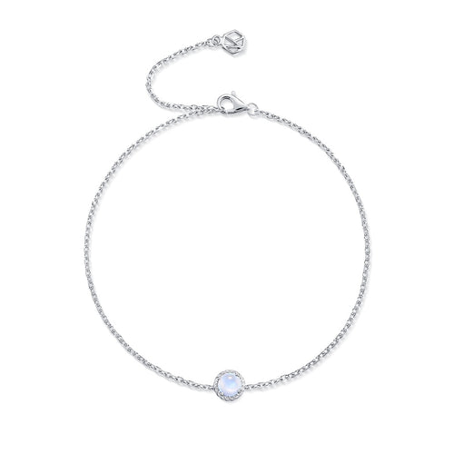 June Birthstone Moonstone Bracelet