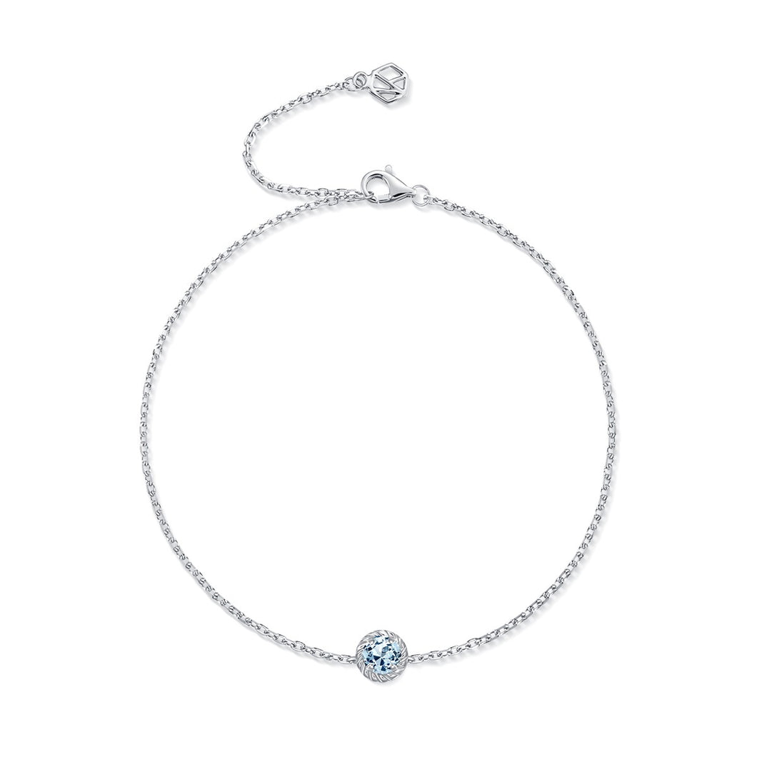 March Birthstone Aquamarine Bracelet