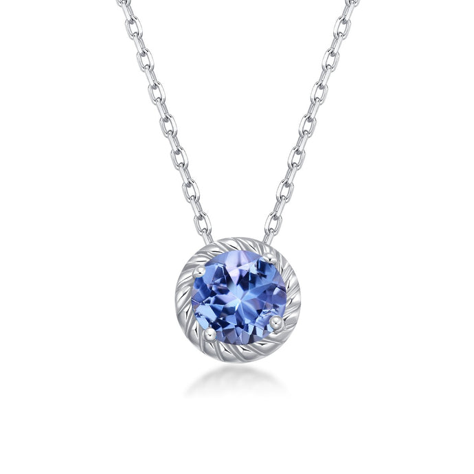 Birthstone December Tanzanite Pendant Chain
