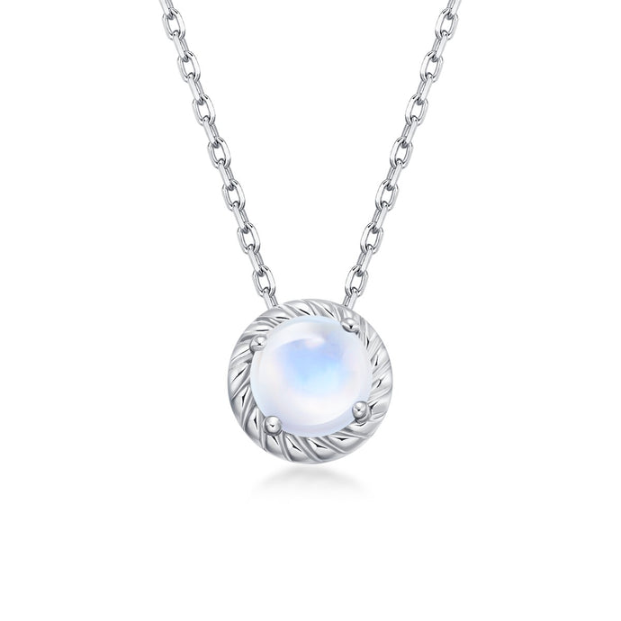 June Birthstone Moonstone Necklace