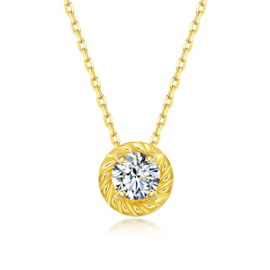 April Birthstone Diamond Necklace
