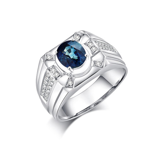 Blue Sapphire Ring - 1.763 cts