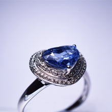 Load image into Gallery viewer, Blue Sapphire Ring -  2.465 cts